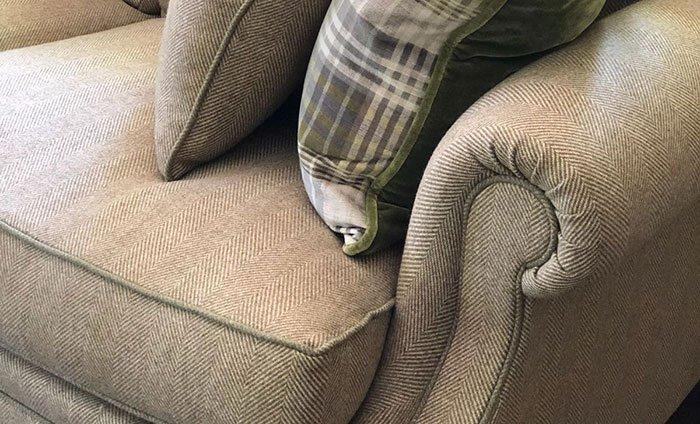Bespoke Cushion on Sofa