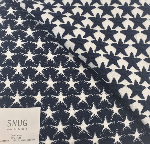 Navy Star Snug Throw