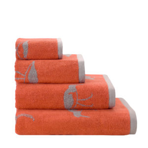 Emily Bond Oyster Catcher Towel in Orange - Bale