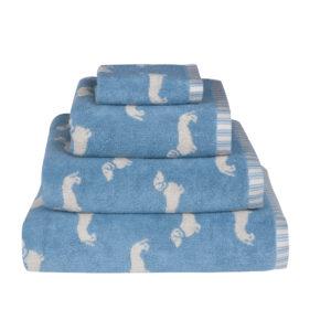 Emily Bond Dachsund Towels Blue