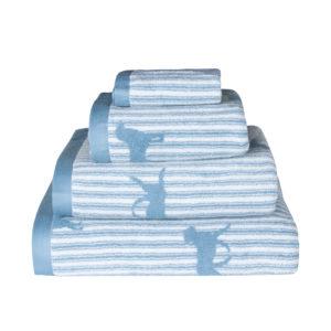 Emily Bond Labrador Towels in Blue - Bale