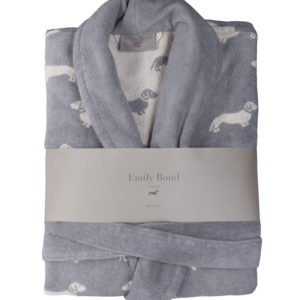 Emily Bond Dachshund Bathrobe in Grey
