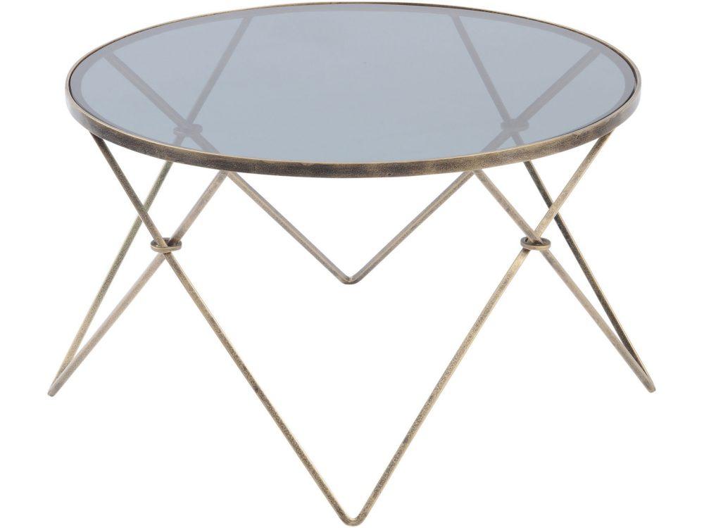 Sassari Antique Gold And Smoke Glass Coffee Table Louise Jackson Interior Design